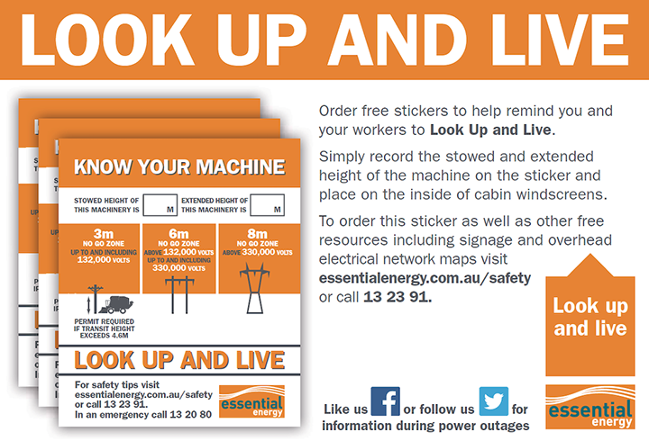 Look up and live - Essential Energy Banner Ad