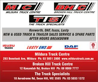 Mildura Truck Side Ad